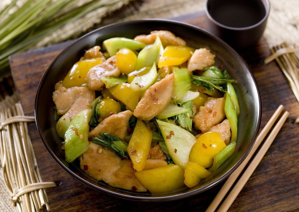 Image of chicken and vegetable stir fry