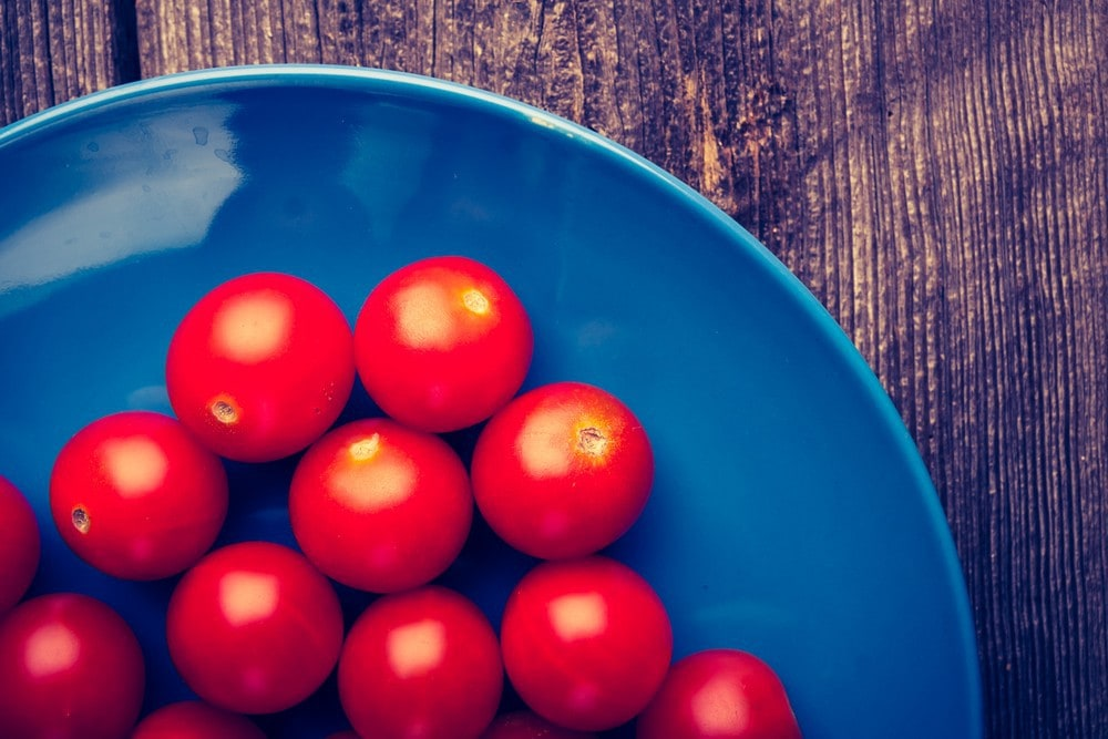 Image of cherry tomatoes on a plate